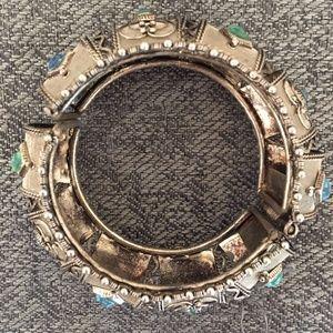 Jewelry - Silver Crown Gemstone Bracelet